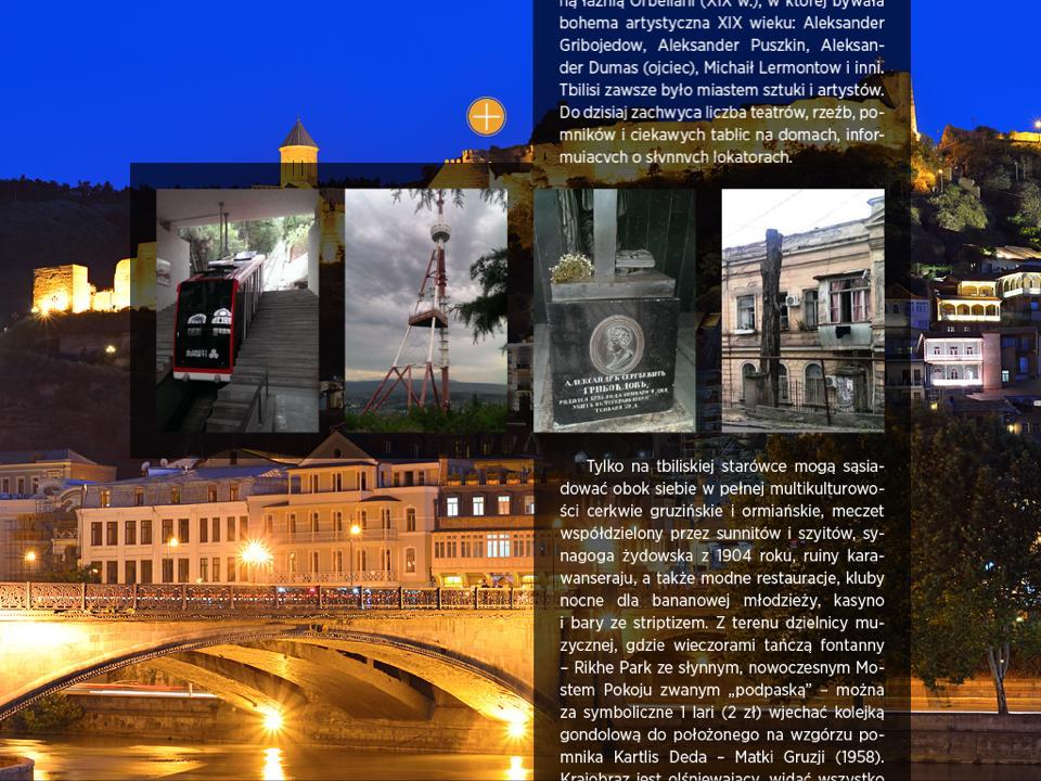 część artykułu z magazynu EGO o Tbilisi