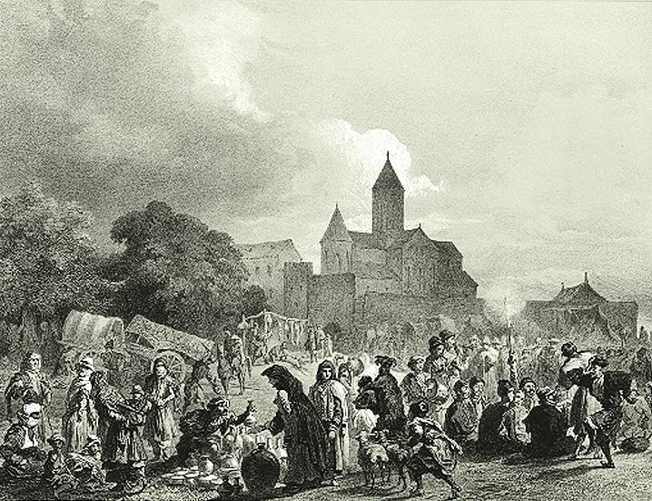 festiwal przy katedrze w alawerdi