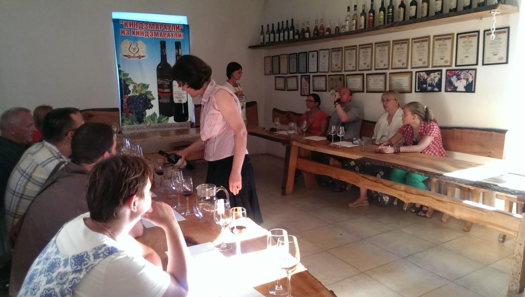 testowanie wina w gruzji