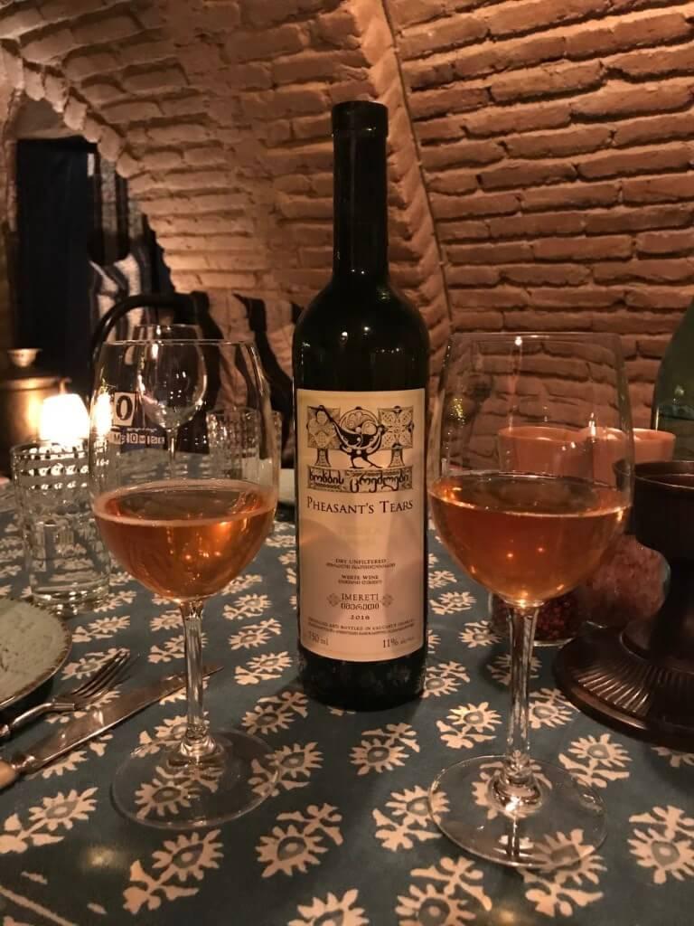 Polyphonia Tbilisi degustacja wina biale wino Pheasant Tears