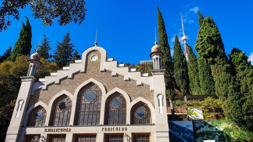 Mtatsminda kolejka dolna stacja Tbilisi Funicular