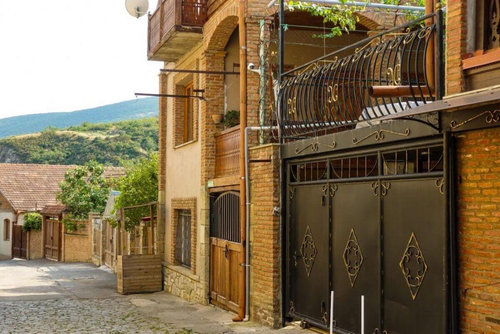 Mccheta zabudowa miejska domy mieszkania w Gruzji