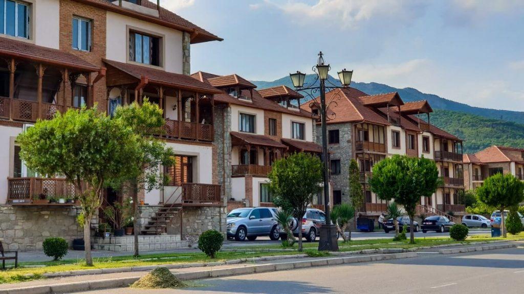 domy Mccheta zabudowa miasto Gruzja