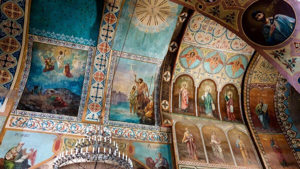 Sziomgwime freski cerkiew klasztor Gruzja