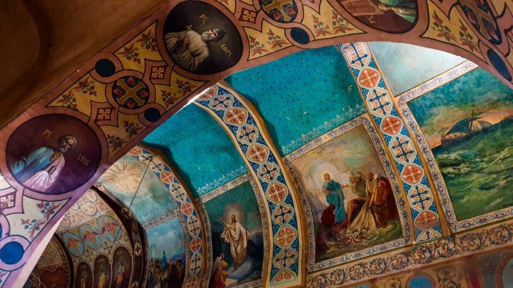 Freski cerkiew klasztor Sziomgwime Gruzja