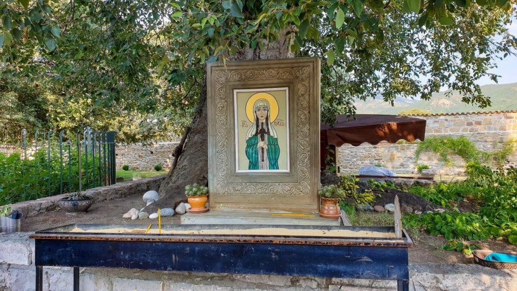 Swieta Nino dziedziniec Samtawro cerkiew