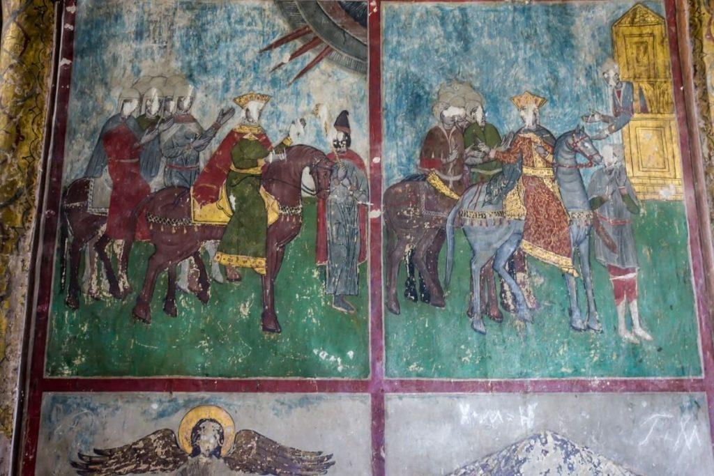 Freski w cerkwi w Gruzji katedra Sweticchoweli
