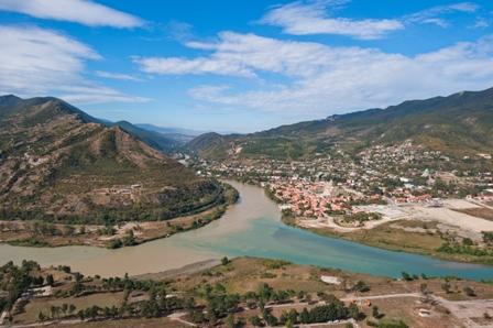 Miejsce spotkania rzek Mtkwari i Aragwi