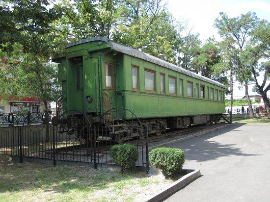 wagon w muzeum Józefa Stalina w Gori