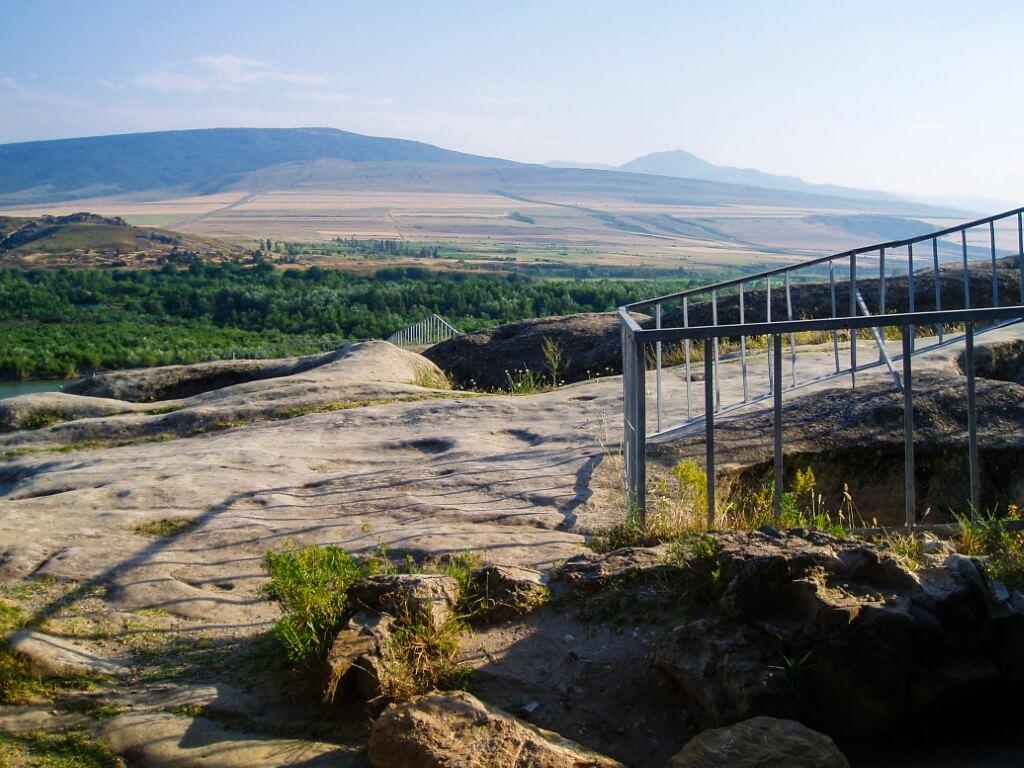 Uplisciche najstarsze miasto skalne w Gruzji balustrada