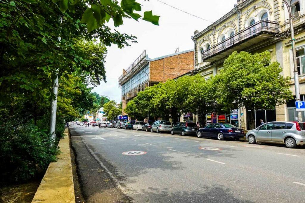 Centrum miasta Kutaisi w regionie Imeretii