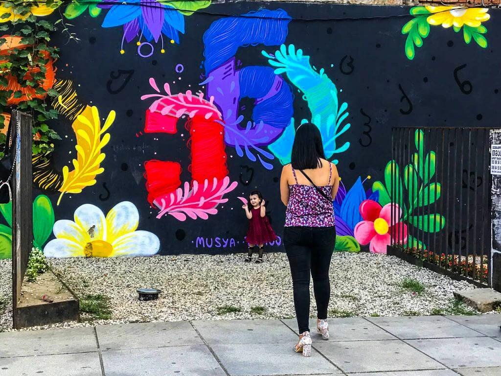 Ciekawe murale w centrum Kutaisi
