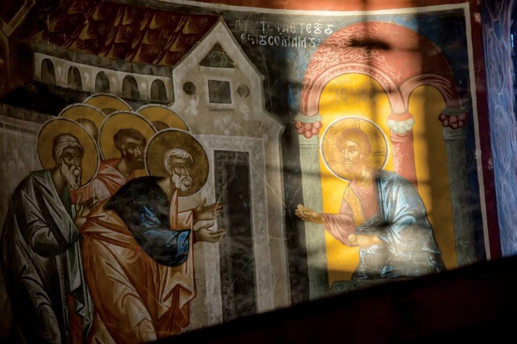 fresk w cerkwi gruzja imeretia kutaisi zwiedzanie