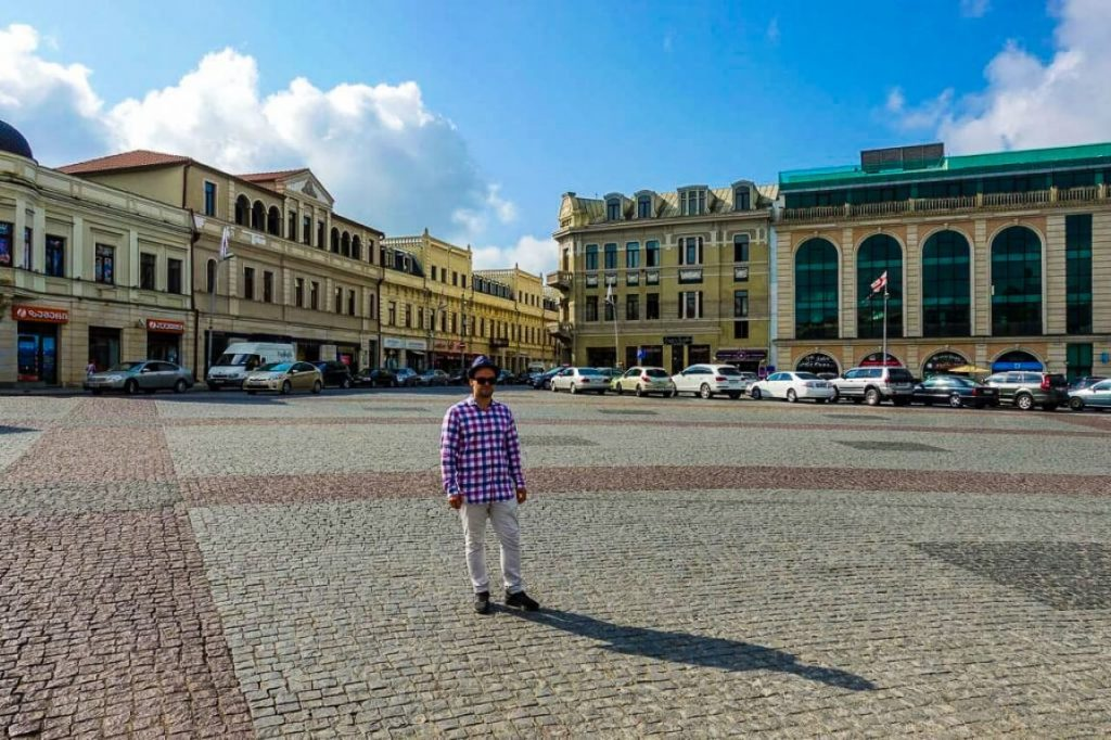 Plac w centrum Kutaisi stolica Imeretii