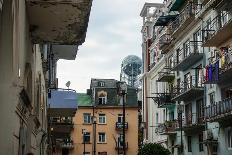 Uliczki starego miasta Batumi Maly Kaukaz Morze Czarne Gruzja