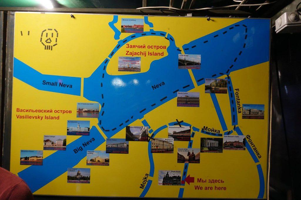 nad rzeką neva - mapa