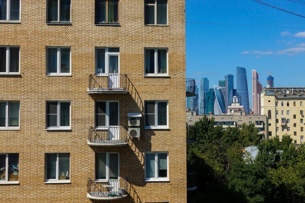 Moskwa z widokiem na drapacze chmur