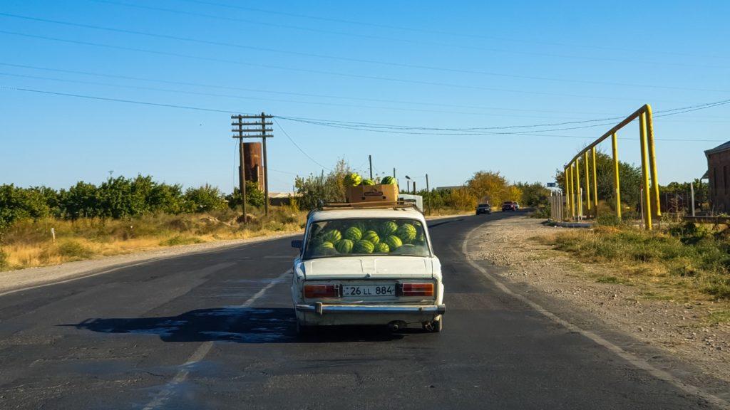 na trasie w Armenii