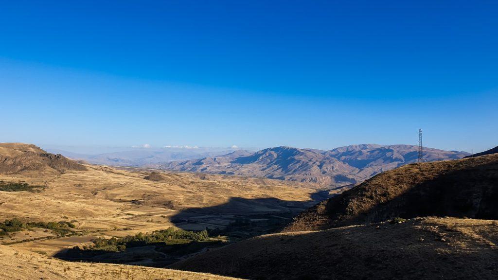 krajobraz na trasie w Armenii
