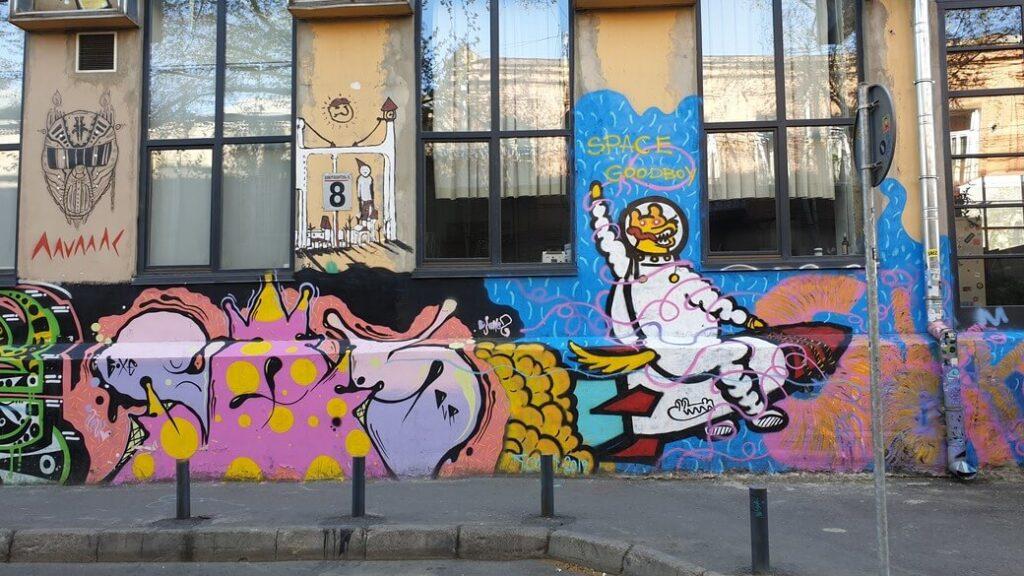 Street art Tbilisi Gruzja 2020