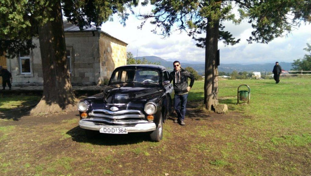 Pabieda samochód radziecki cerkiew Gelati Polakogruzin