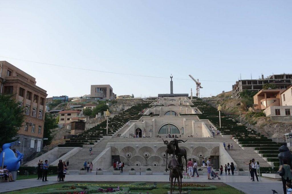 Kaskady Erywan Yerevan sztuka nowoczesna