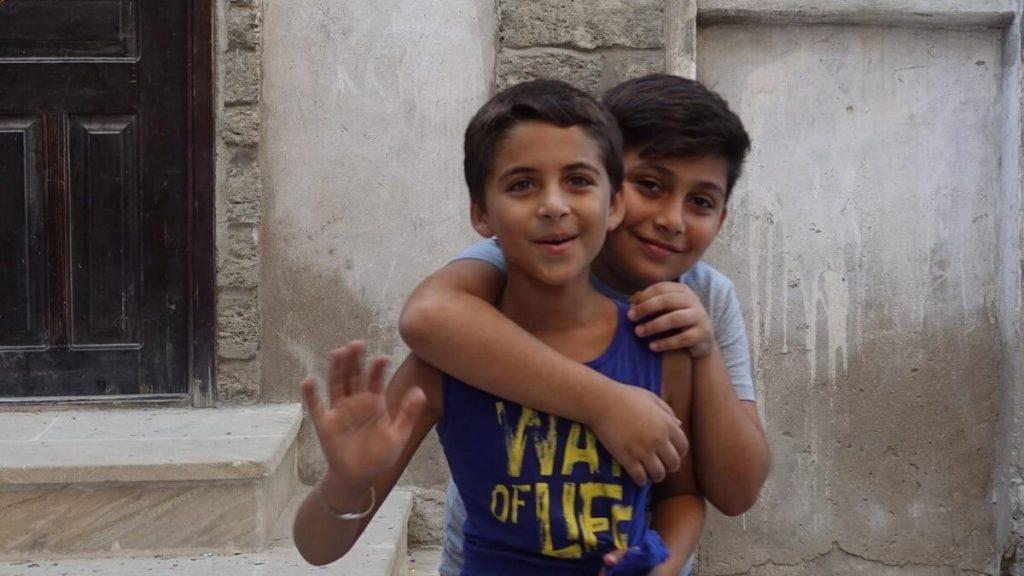 Azerbejdzan Baku mieszkancy dzieci