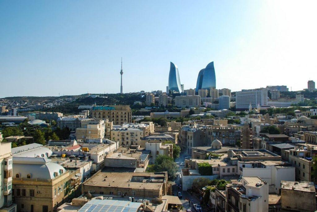 Azerbejdzan Baku i okolice Ogniste Wieze Wewnetrzne Miasto