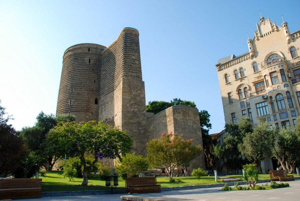 Wewnetrzne Miasto Baszta Dziewicy Baku Azerbejdzan