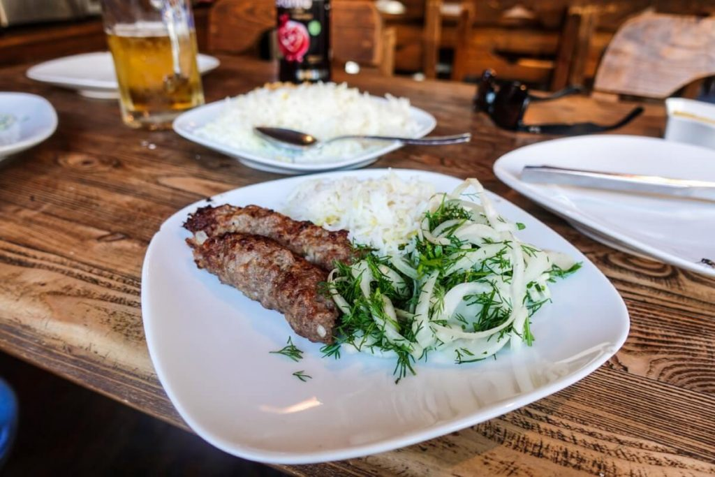 Azerbejdzan kuchnia kebab restauracja Baku