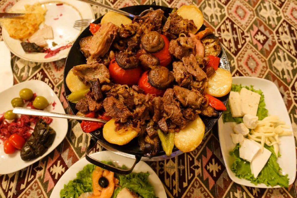 Azerbejdzan kuchnia jedzenie restauracja Baku