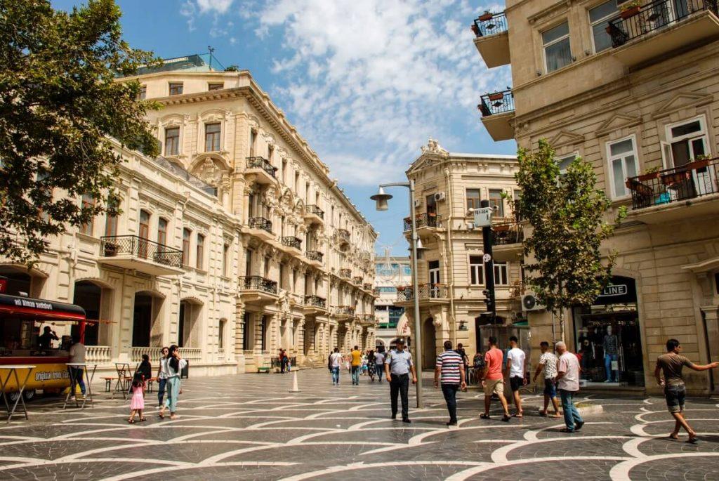Centralna ulica Baku Azerbejdzan