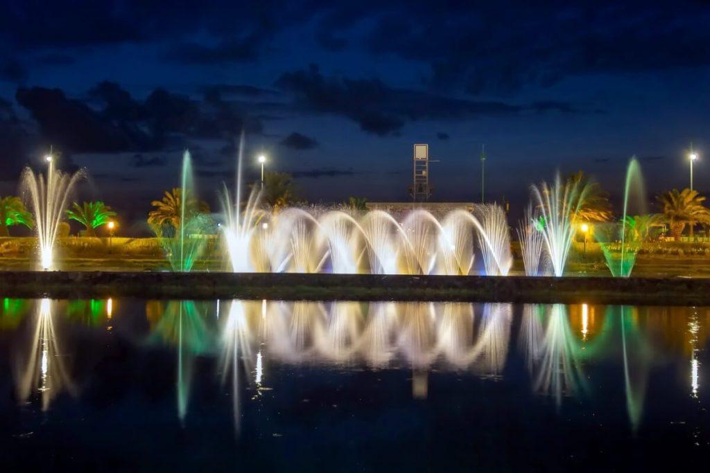Batumi fontanny pokaz centrum miasta morze czarne kaukaz polakogruzin