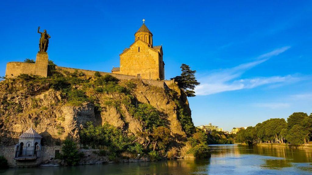 cerkiew metechi centrum tbilisi starowka