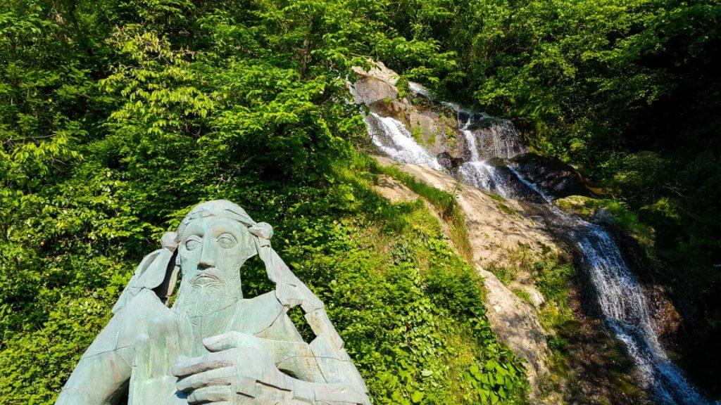 pomnik batumi sarpi wodospad granica Gruzja