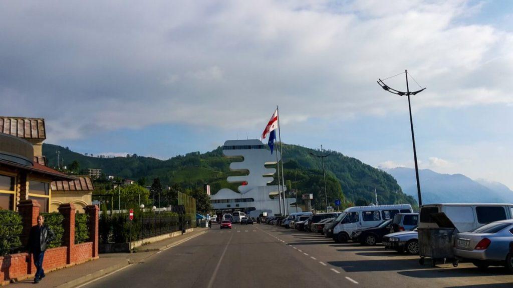 Granica Gruzja budynek celnikow morze czarne kaukaz