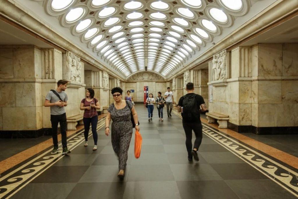 Petersburg i Moskwa w 9 dni – wyprawa do innego wymiaru Stacja metra Elektrozavodskaya