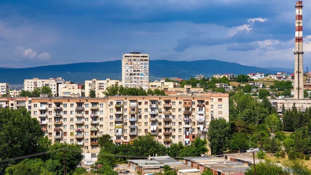tbilisi temka sowieckie osiedle gory kaukaz