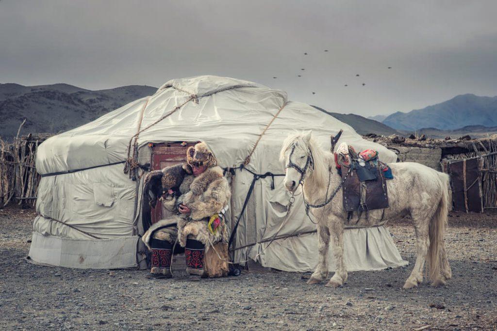 jurta mongolia orzeł