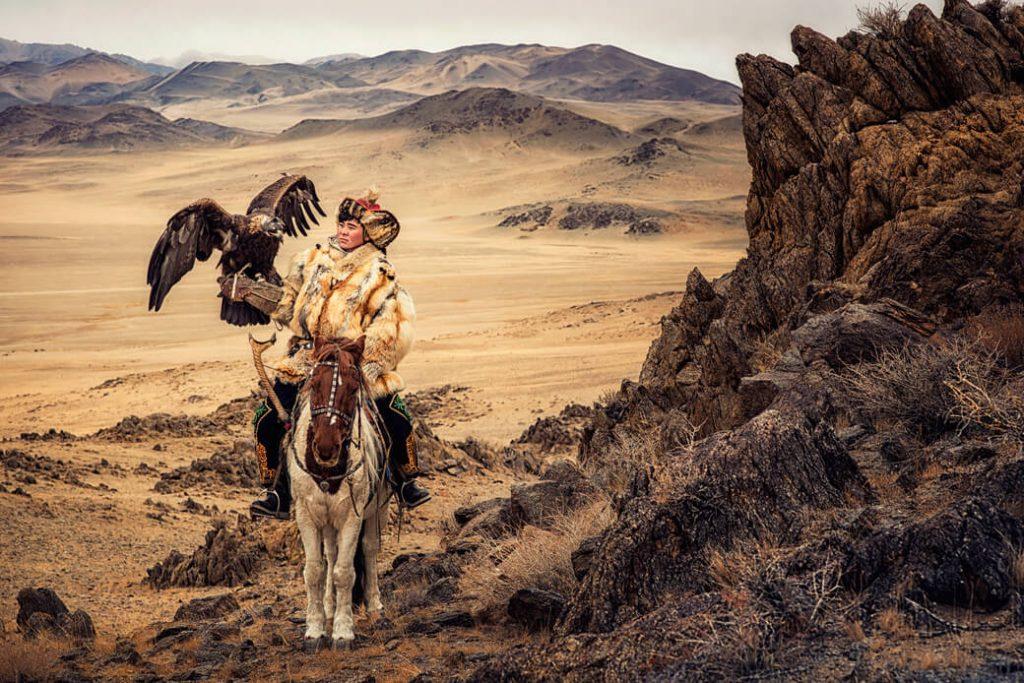 polowanie z orłem mongolia
