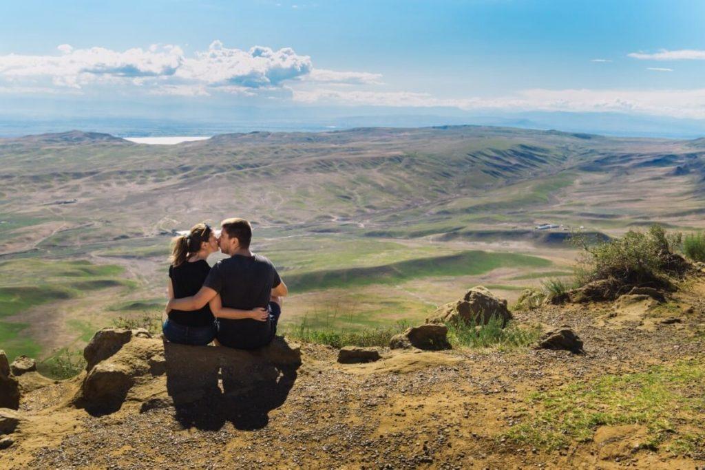 Widoki Gruzja Azerbejdzan step polpustynia