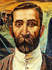 "Niko Pirosmani ""Autoportret"" (domena publiczna)"